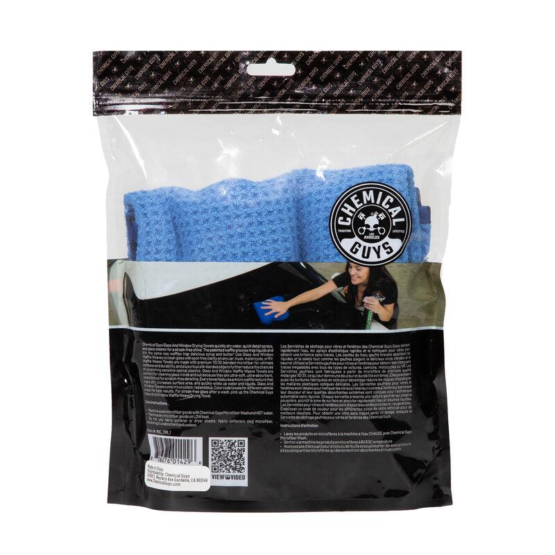 "Waffle Weave Glass And Window Microfiber Towel Blue (24"" x 16"")"