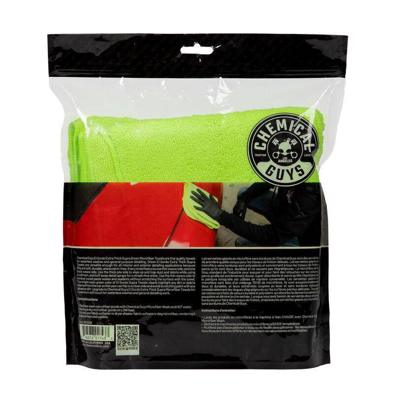 "El Gordo Extra Thick Professional Microfiber Towel, Green 16.5"" x 16.5"" (3 Pack) slider image 3"