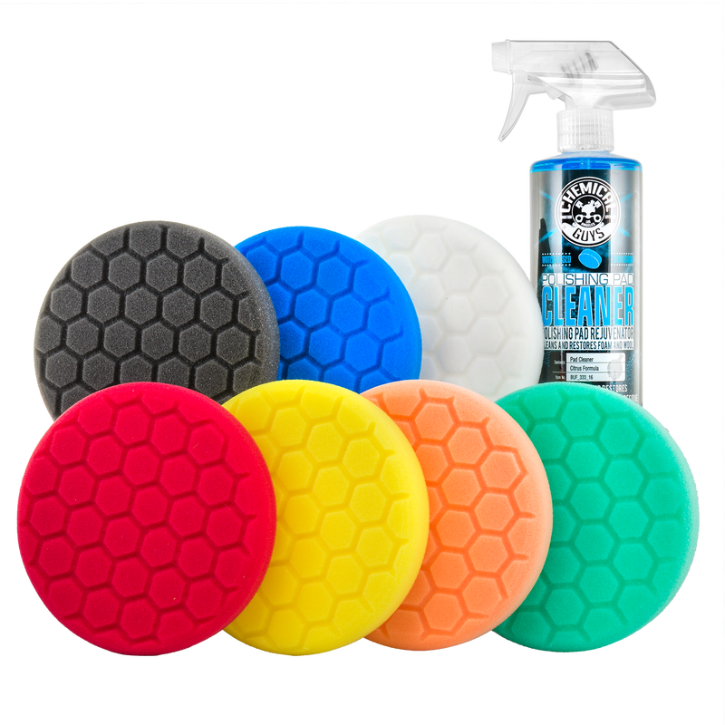 """Hex-Logic 5.5"""" Best of the Best Buffing Pads Everything Kit (8 Items)"""