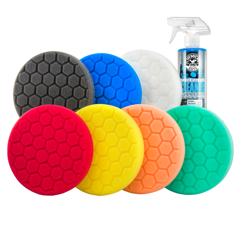 """Hex-Logic 6.5"""" Best of the Best Buffing Pads Everything Kit (8 Items)"""