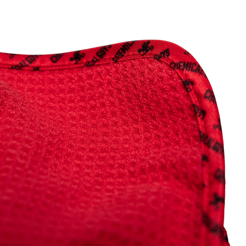 "Waffle Weave Glass and Window Microfiber Towel, Red 24"" x 16"""